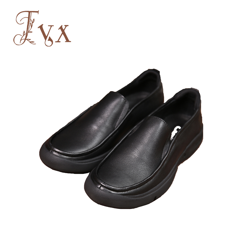 Tayunxing handmade shoes genuine leather cow skin casual slip-on men shoes comfort with\without hollow 5809-6 / 5809-7(Hollow) men without women