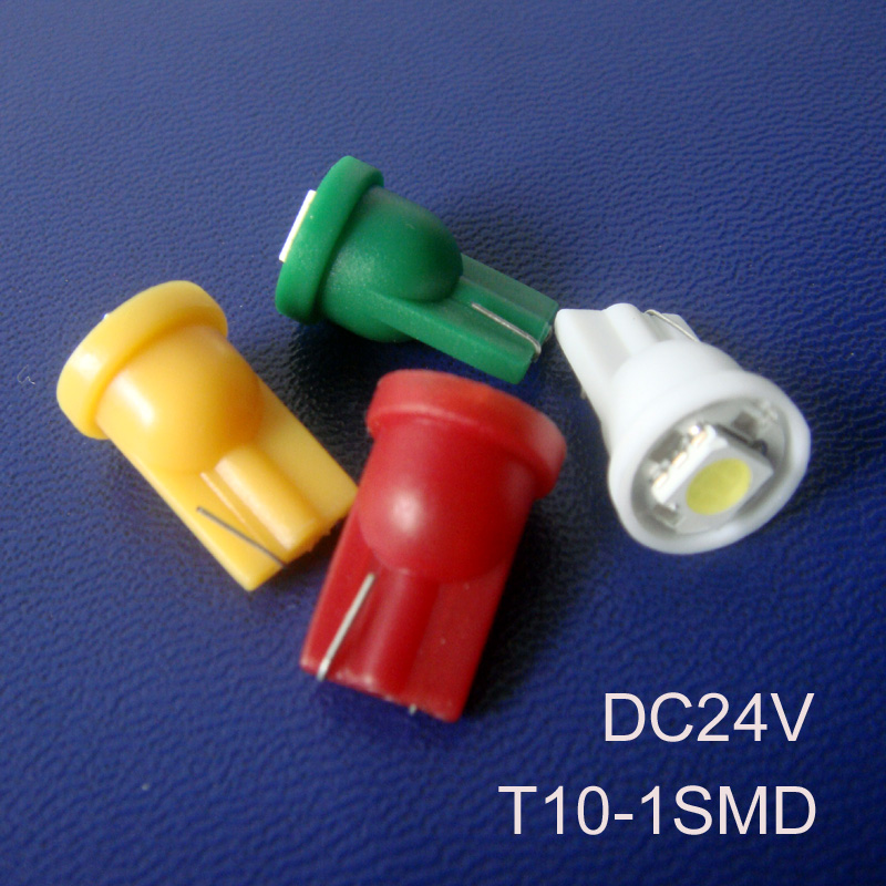 High quality 24V T10 led Indicator light T10 194 168 W5W wedge led Pilot lamp Signal light DC24v Truck free shipping 50pcs/lot