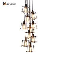 Industrial Loft Vintage Pendant Lights Personality Wrought Iron Lights Nordic E27 Edison Lamp Cage Lamp Lighting