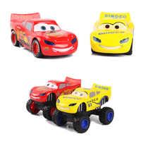 Disney Pixar Cars Saetta Mcqueen Mostro Tirare Indietro Lampeggiante Cruz Ramirez Diecast Modello di Auto Giocattoli Regalo Di Compleanno Per I Bambini