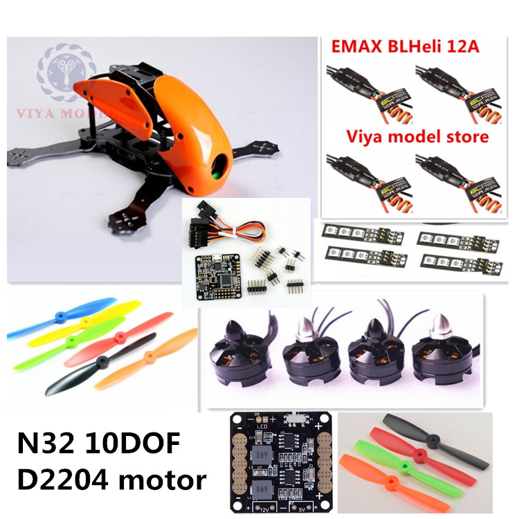DIY FPV race mini drone Robocat 270 quadcopter frame kit 4-axis pure carbon NAZE32 10DOF + D2204 + BL12A ESC + LED light Special diy fpv mini drone qav210 zmr210 race quadcopter full carbon frame kit naze32 emax 2204ii kv2300 motor bl12a esc run with 4s
