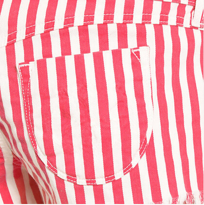 Fashion Casual Shorts Women Cute Red White Stripes Pattern Natural ...