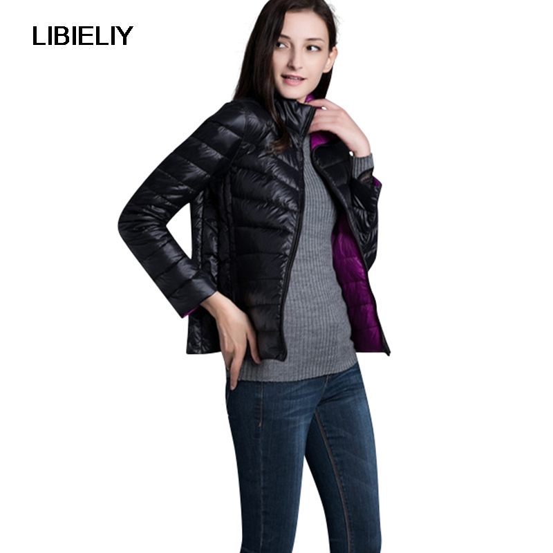 Belle Vogue automne hiver femmes veste Double côté porter léger mince vers le bas femme manteau mode femmes Outwear dames vestes