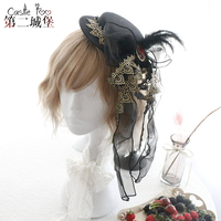 Women Steampunk Mini Top Hat Hair Clip Punk Gothic Ribbon feather Butterfly Decoration Headwear Hair Accessories
