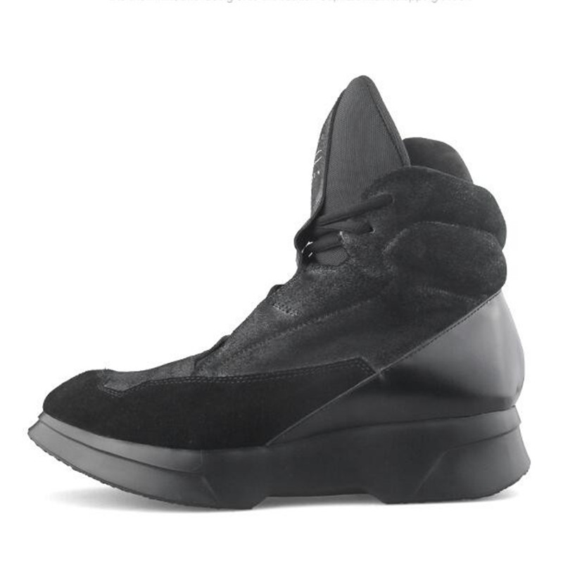2018 Black&Street High Top Hip Hop Sneaker Thick bottom Genuine Leather Boots Luxury New Design Summer Trend ROCK Cool Boot