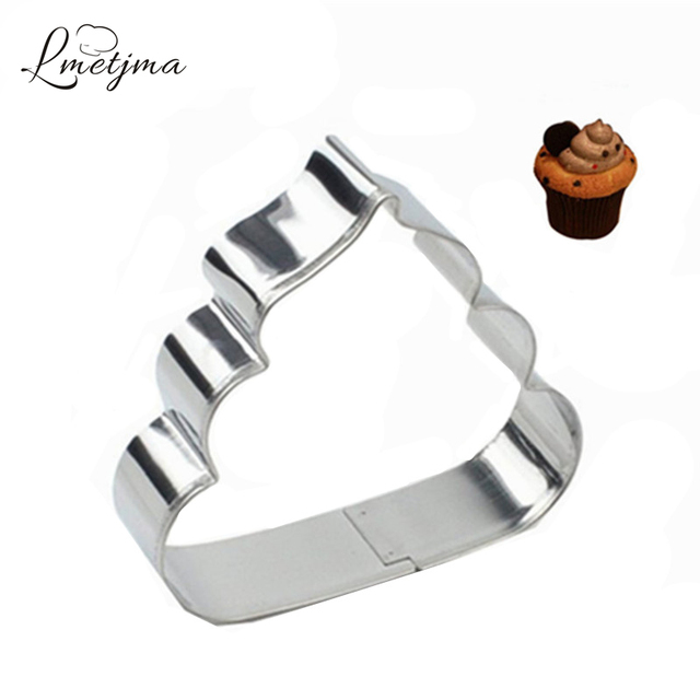 LMETJMA Poo Cookie Cutter Stainless Steel Poop Shaped Family DIY Cake Maker Mould