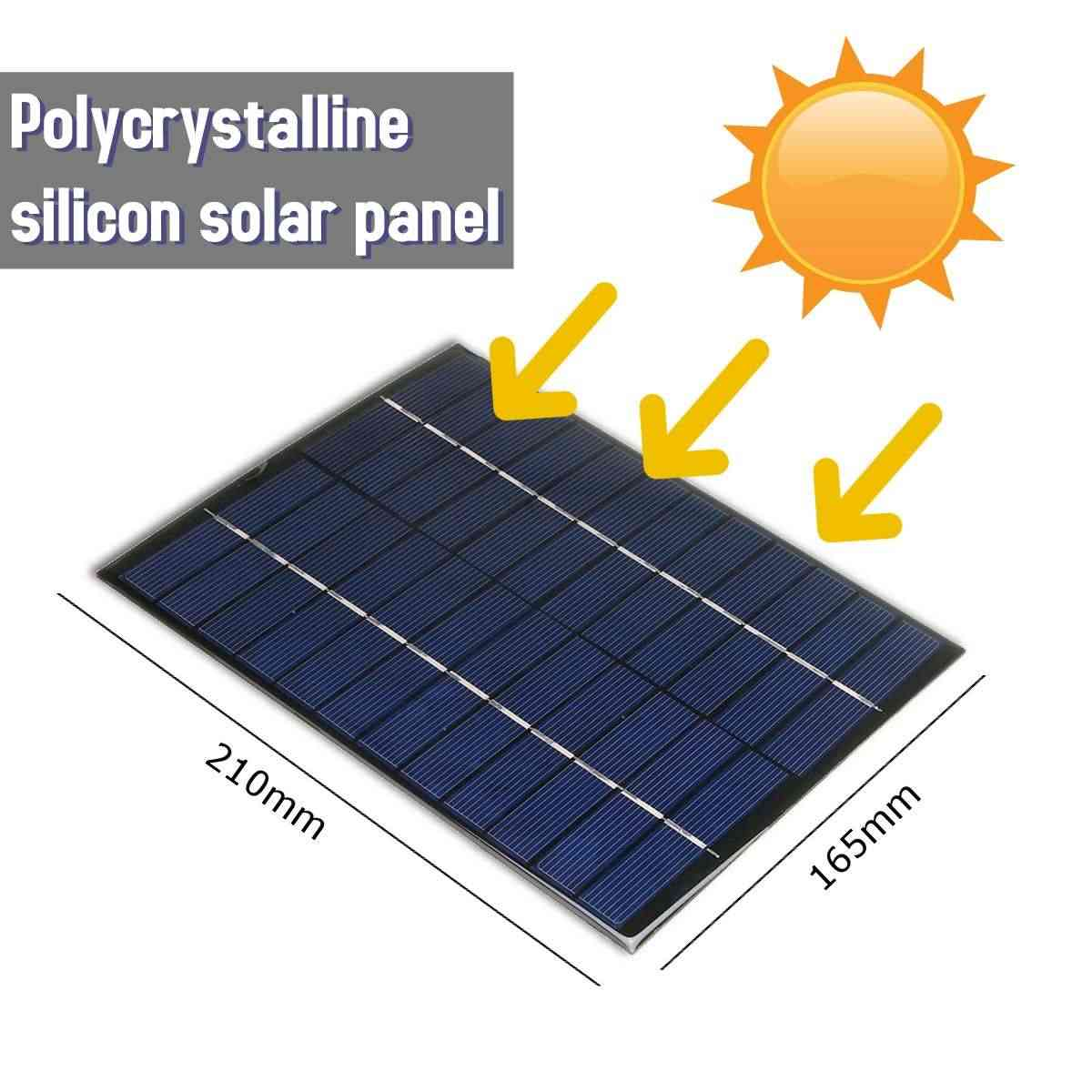 LEORY Solar Panel 12V 5.2W  Solar Charger 5V Phone Battery Charger 12V Mini DIY Epoxy Polycrystalline Cells For Cellphone