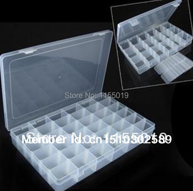 ... 36 Compartment Plastic Small Parts Storage Box With Movable Dividers  BJD Doll Glasses Eyes ...