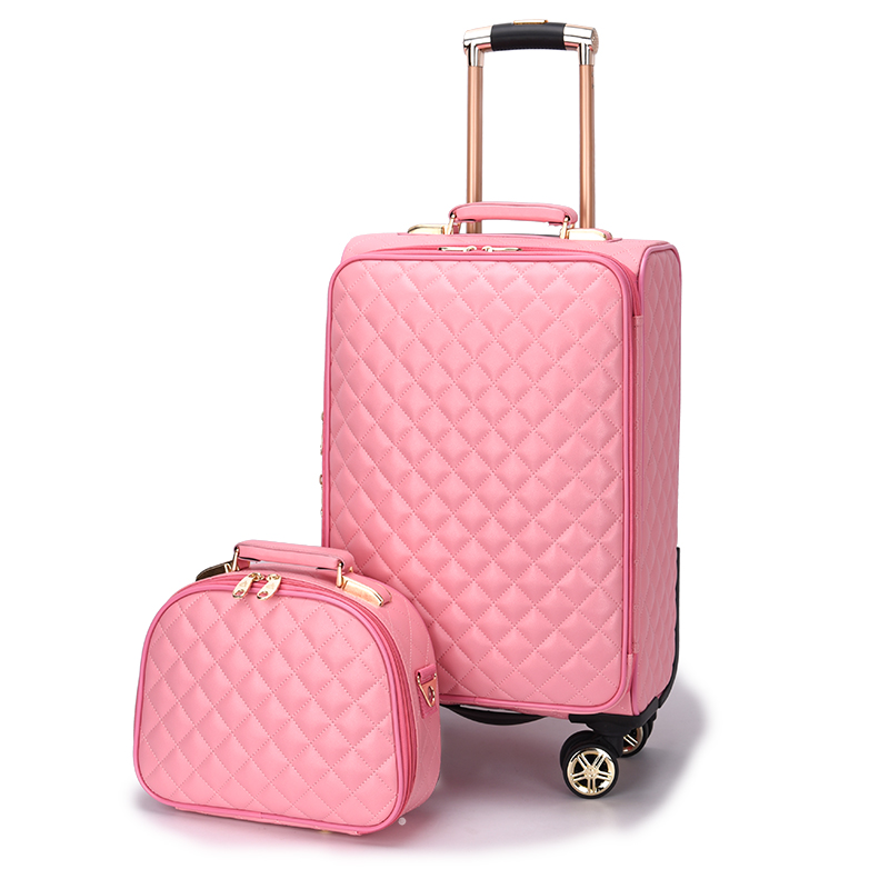 Womens fashion set of trolley case,Lady Cute suitcase,Small fresh Korean Trunk,Student Luggage,20Boarding box,Exquisite gifts Womens fashion set of trolley case,Lady Cute suitcase,Small fresh Korean Trunk,Student Luggage,20Boarding box,Exquisite gifts