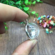 5 компл./лот 20 мм прозрачное полукруглое стекло выпуклая ампула кулон серебро/бронза рамка Установка ожерелье ювелирных изделий поиск решений