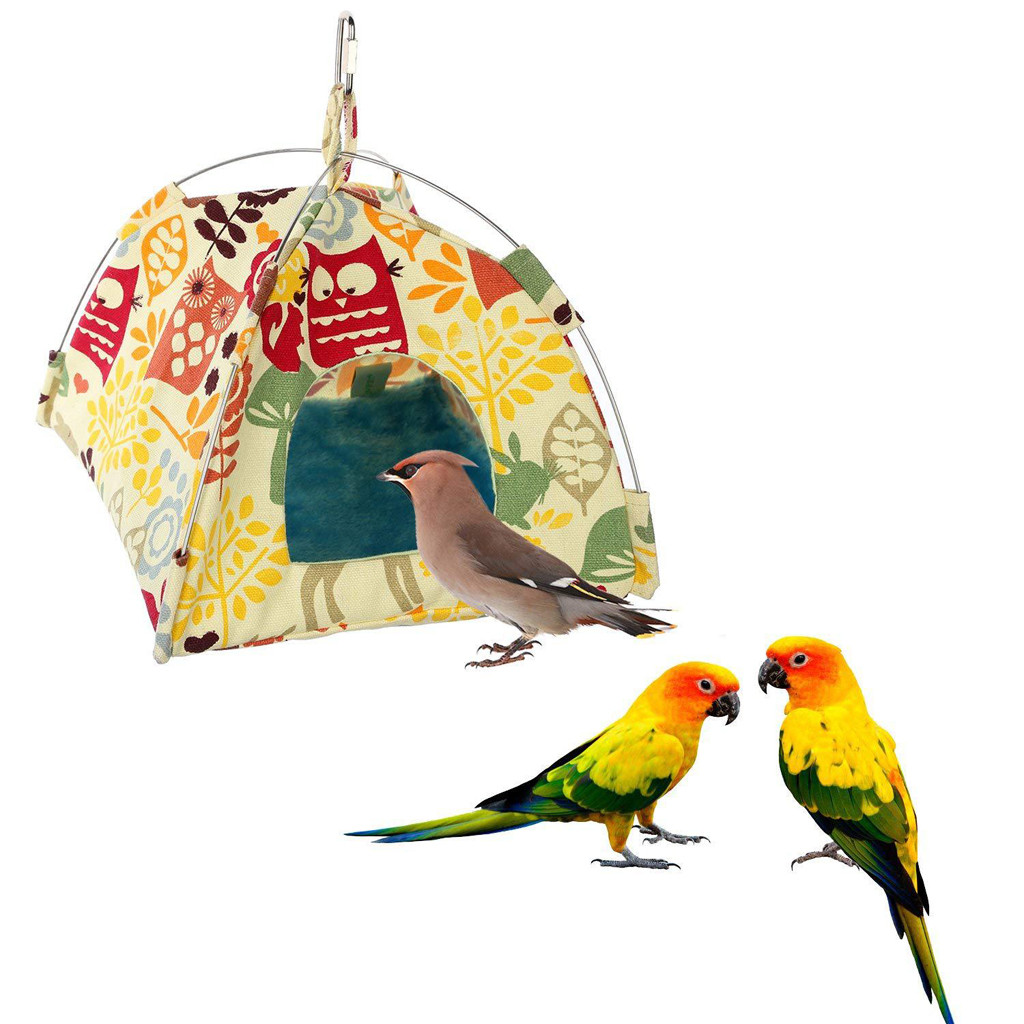 Rational Small Pet Tent Bird Nest Hamster Chinchillas Hanging Hammock Parrot Tent Pet Beds For Small Animal Washable Poduszka Bird Supplies