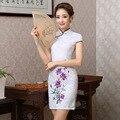 Women Retro Slim Summer Traditional Chinese Dress Cheongsam Qi Pao New Design Flower Printing Short Cheongsams