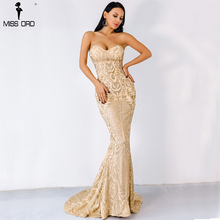 Missord 2017 Sexy Elegant Christmas Off Shoulder Glitter Backless  Geometry Female  Floor-Length Party Dress  FT8911