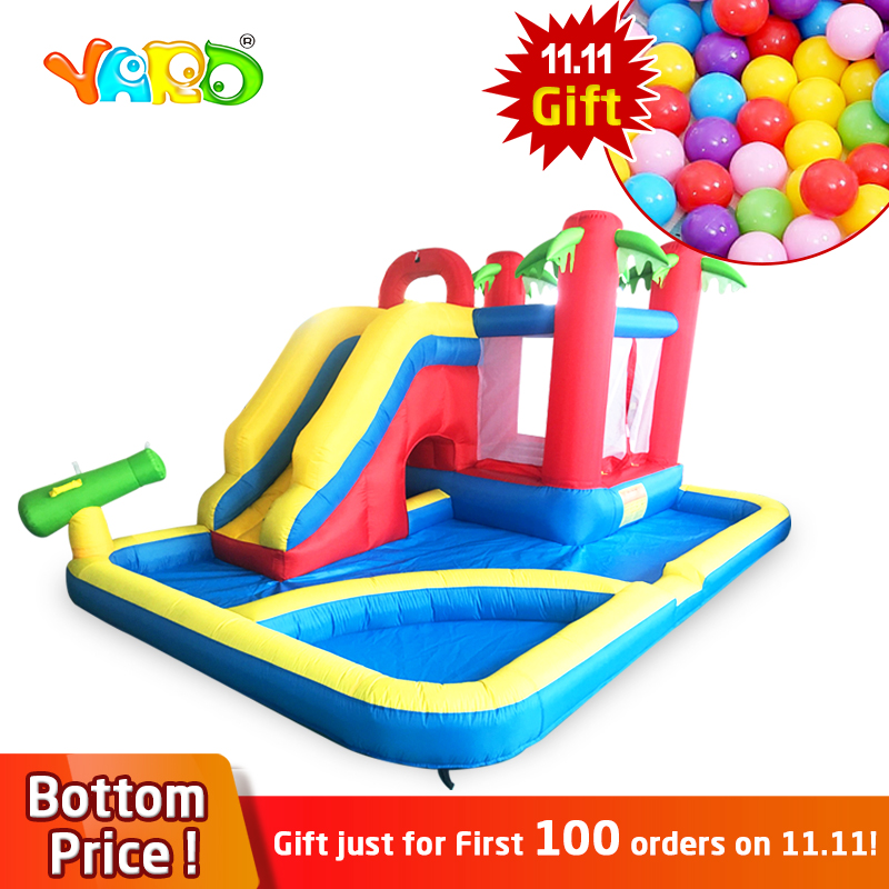 YARD 3 In 1 Inflatable Castles Slides Pool Bouncers Big 4.7*3.1*2.3M Inflatable Jumping Bouncy Ship By Express Christmas Gift free shipping pvc material inflatable baby bouncers hot sale 3 75x2 6x2 1 meters small mini bouncy castles for outdoor toys