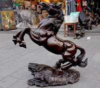 free shipping Copper horse decoration extra large copper opening gifts decoration