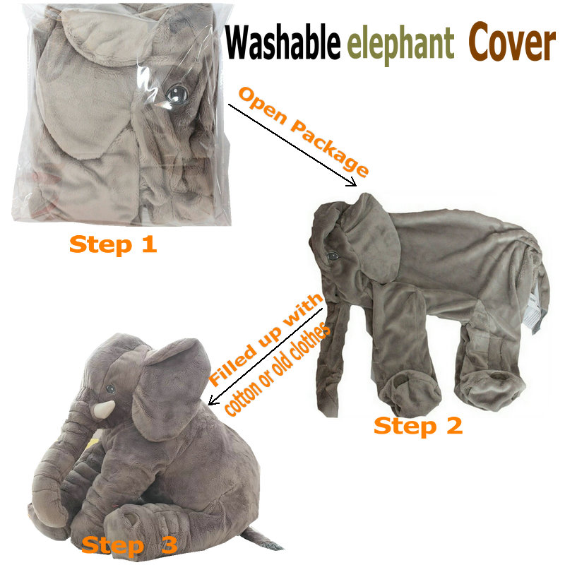 55cm elephant Skin plush toy cover stuffed animal skin cover washable plush cover baby appease sleep pillow kids Pillow Clam stuffed animal 44 cm plush standing cow toy simulation dairy cattle doll great gift w501