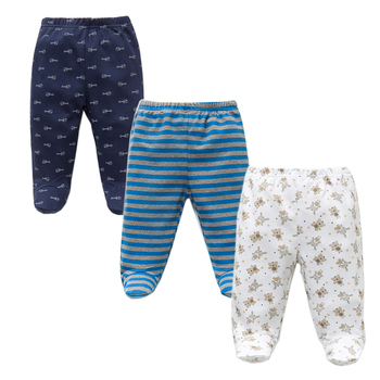 3PCS/Lot Spring Autumn Footed Baby Pants 100% Cotton Baby Girls Boys Clothes Unisex Casual Bottom PP Pants Newborn Baby Clothing 1
