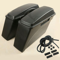 Matte Black Hard Saddle bags Saddlebags For Harley Touring Road electra Glide Ultra Softail Sportster 883 1200 Motorcycle