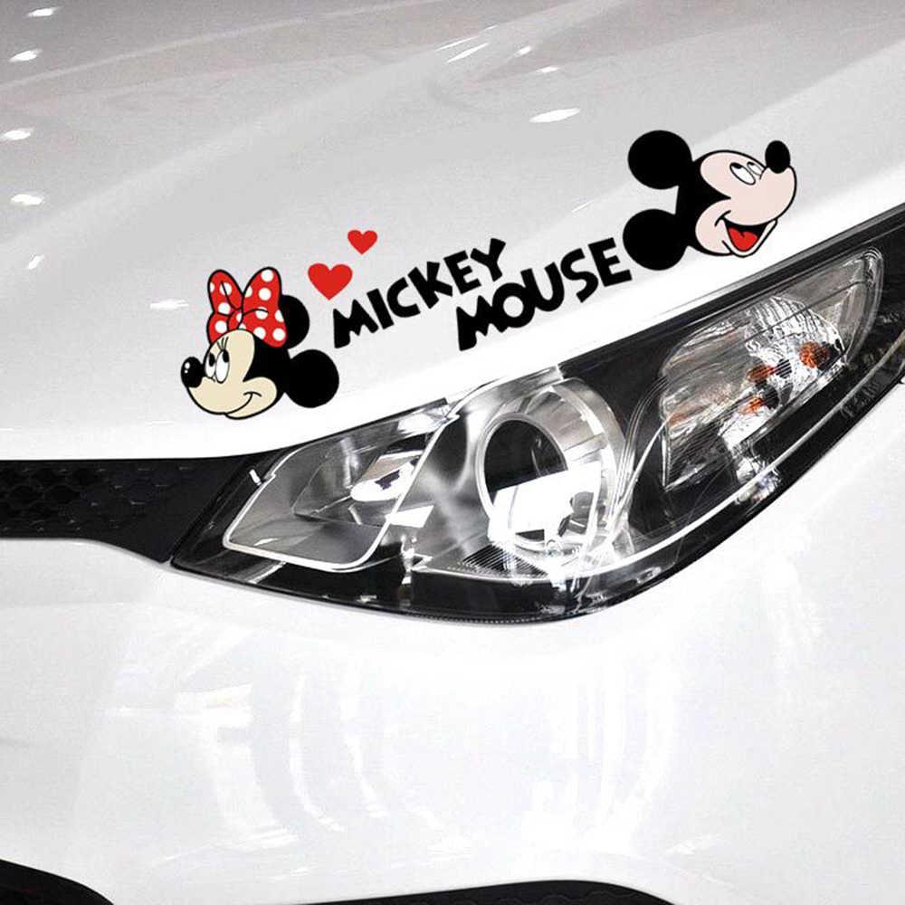 Etie милый мультяшный Микки Мышь Минни автомобиль наклейки и наклейка на автомобиль Спорт для мотоцикла украшения Skoda Форд Опель Bmw E39