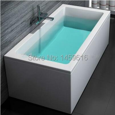 все цены на 67' Square Freestanding Fiberglass Bathtub Acrylic With ABS Composite Board Piscine Soaking Bath 6035C онлайн