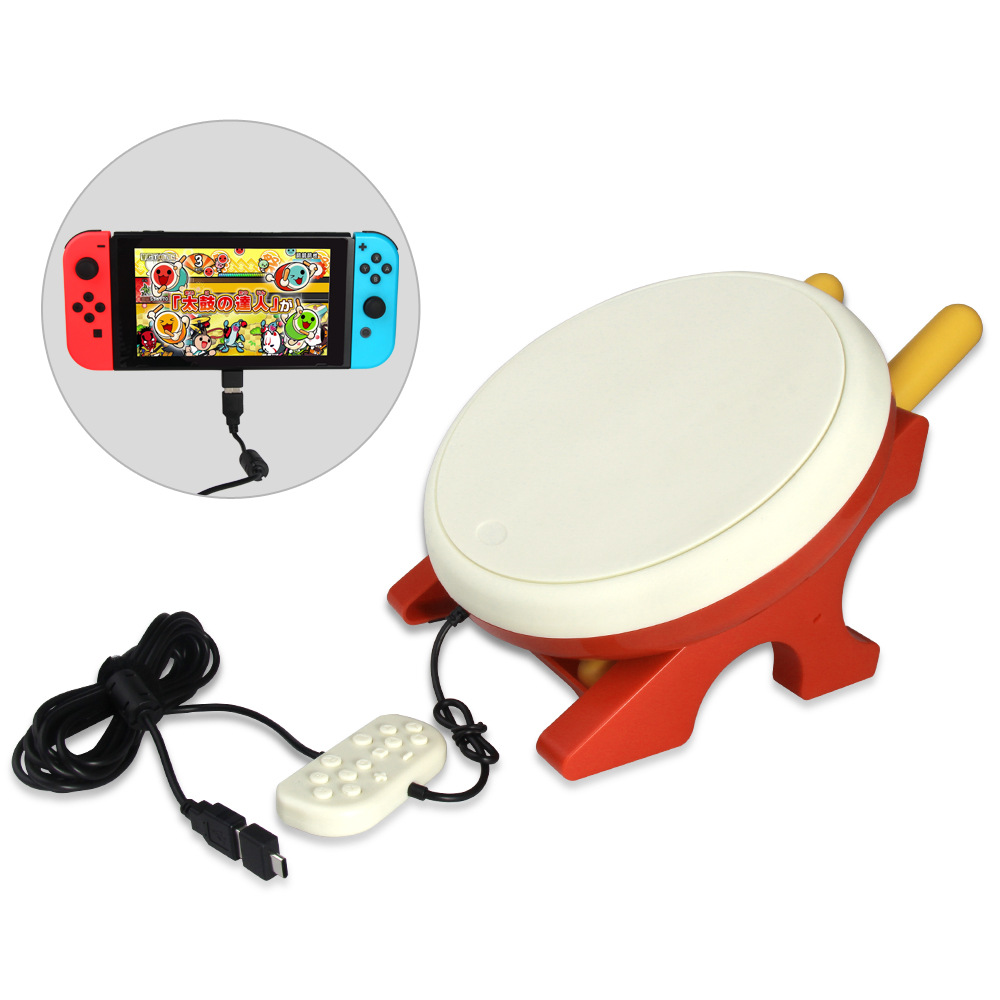 For Switch NS TV Kinect Gaming Drum For NS Joy-Con Taiko Drum For Switch Console alloyseed motion sensing game controller for taiko drum game drumstick kinect handle set hand grip gamepad for nintend switch ns