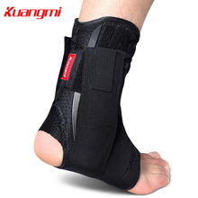 Kuangmi 2pcs Lace-up Ankle Support Immobilize Ankle Brace Ankle Stabilizer Ankle Sprain Injury Recovery Guard Running Basketball 1pcs ankle support brace stirrup sprain stabilizer guard ankle sprain aluminum splint