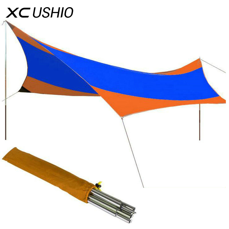 Outdoor Tent 5-8 Person 550 * 560cm Awning UV Protection Rainproof for Camping Beach Fishing Park Sun Shade Pergola Canopy Tent жития святых екатеринбургской епархии