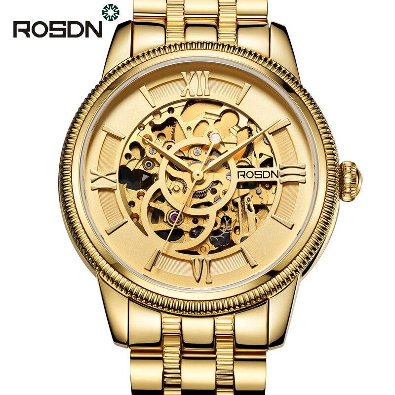 ROSDN font b Men b font Automatic Mechanical font b Watches b font Top Brand Luxury