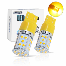 2ps T20 7443 35 SMD 3030 LED Bulbs 20W DC 12V Yellow LED Car Light Auto Reverse Lights Turn Signal Brake Stop Tail Lights Lamp pair red 158 smd 1157 2357 7528 led bulbs for turn signal lights tail lights brake stop lights for ford peugeot srt infiniti