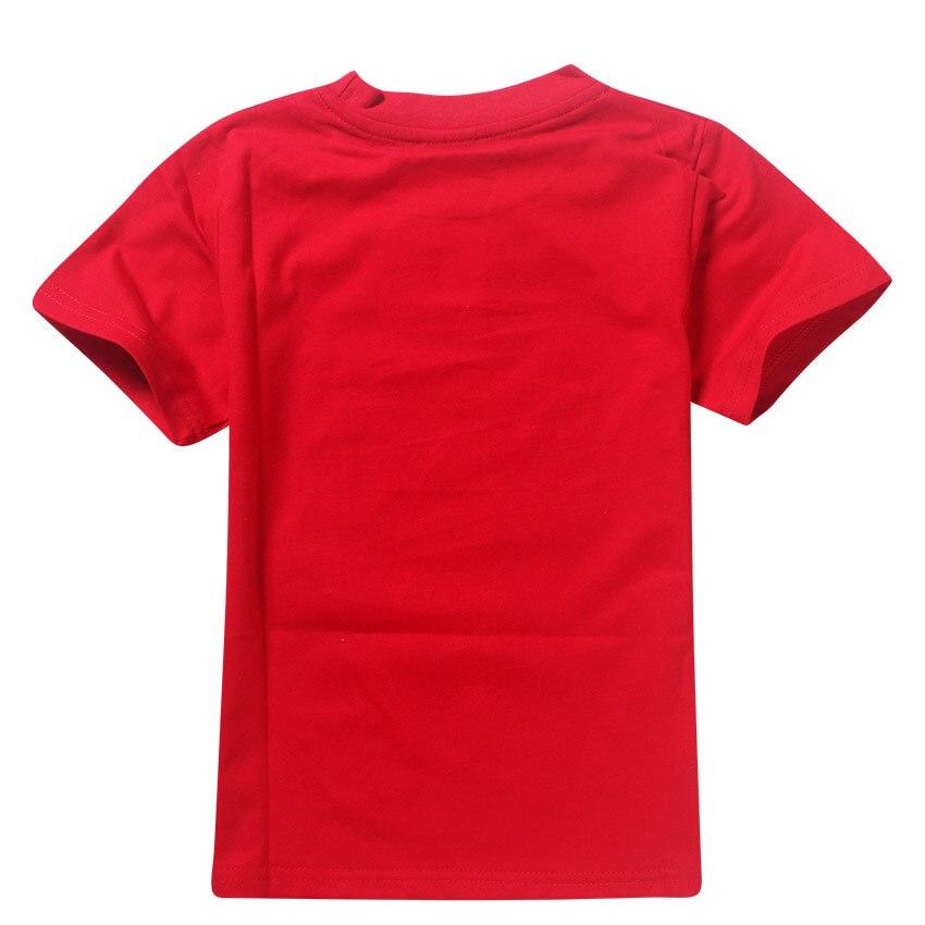 4-12y Children Tops Kids Cotton T-shirt Summer Sports Kids Clothes Casual Boys Costume Roblox Game Print Boys Girls T Shirt 2018
