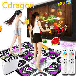 English Menu HD Dance Mat Double TV Computer Interface Dance Rug Dual Players Dancing Machine Yoga Fitness With Two Gamepads