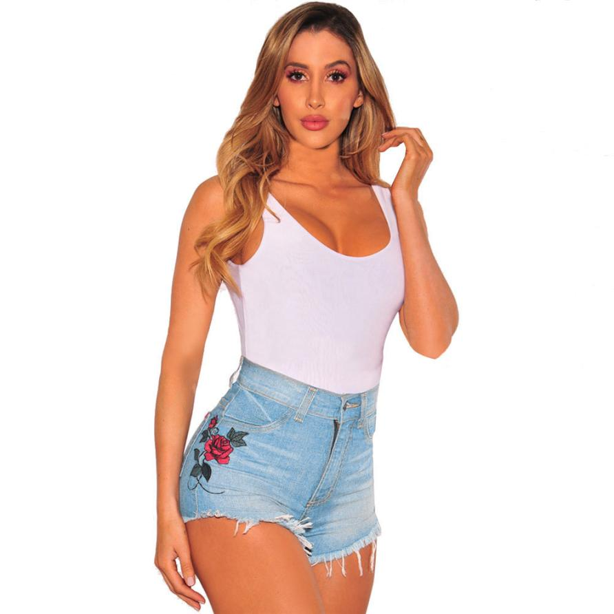 42d19314977b Womail Sexy Summer Women Denim Shorts 2018 New High Waist Ripped Short  Jeans Femme Tassel Flower Bandage Hot girls shorts