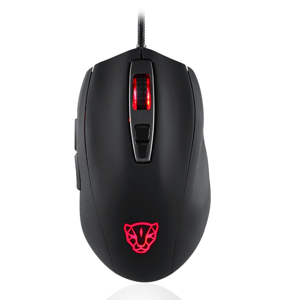 Motospeed Mouse V60 5000 DPI Wired Gaming Mouse black white color 7 Keys Rato com fio Computer Peripherals