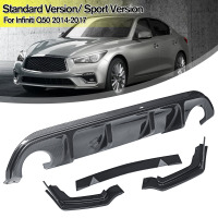 NEW Car Rear Bumper Front Deflector Spoiler Splitter Diffuser Bumper Carbon Fiber Bumper Splitters For Infiniti Q50 2014 2017