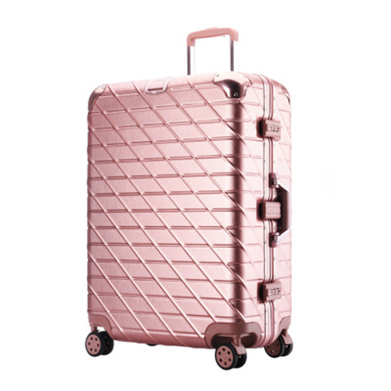 dbef472ada70 Aluminum Frame Travel suitcase Rolling Spinner Luggage 20/29inch carry-on  box travel bags Woman suitcase with wheel trolley case
