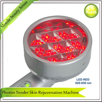4 In 1 Portable RED BLUE YELLOW GREEN Led Light Photon Tender Therapy Facial Skin Massager
