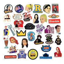 35pcs/set riverdale Stickers for Laptop Skateboard Home Decoration Car Styling Vinyl Decals Doodle Cool DIY works D0912(China)