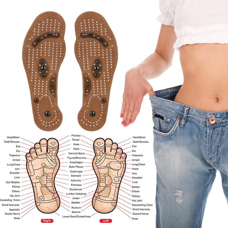 Haut Pflege Werkzeuge Dropshipping Magnetische Einlegesohle Pflege Fußbett Magneto Fuß Massage Magnet Therapie Fuß Schmerzen Akupunktur Punkte Fuß Gesundheit