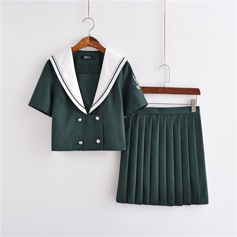 2018 New Arrival Japanese School Class Navy Sailor Hell Girl Anime Cosplay Costumes Uniform Girls Jk Sets Summer School Suit
