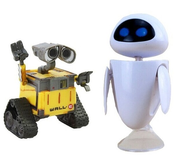 8cm Cartoon Movie Wall E Toy Walle Eve Robot Action Figure Collection Model Kids for children Toy novelty wall demolish game cartoon cat demolish wall toy interactive game desk toy children learning educational toys for kids
