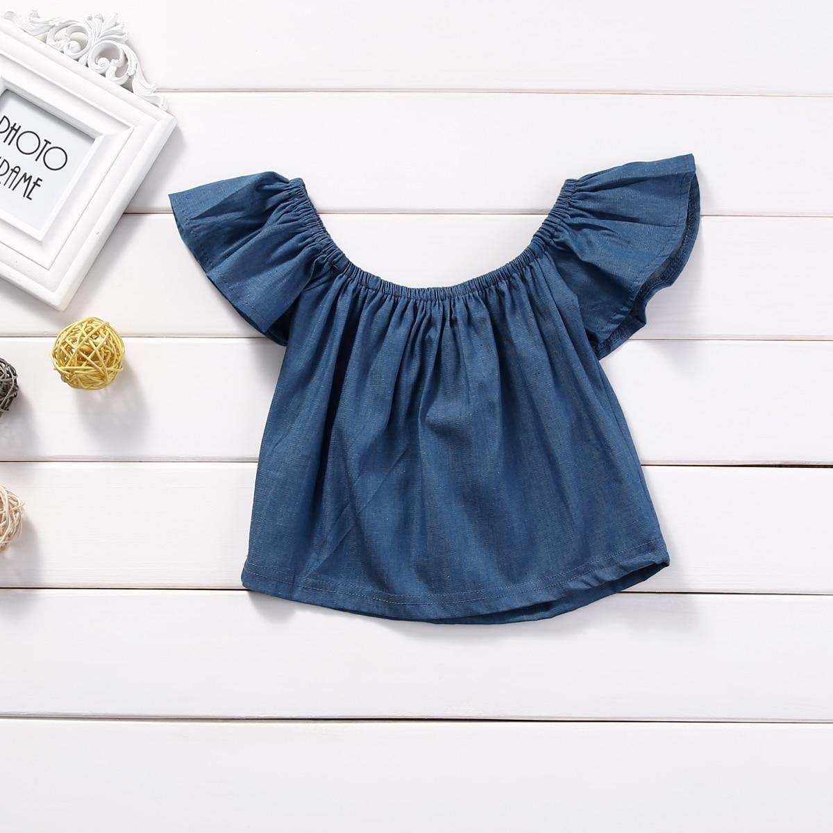 Toddler Newborn Baby Kid Girls Clothing Demin Off The