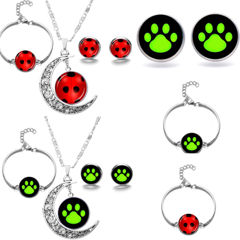 Miraculous Ladybug Marinette Adrien Black Red Cat Noir Necklace Toys Lady Bug Kids Bracelet Cosplay Set Party Earings Toys orologio delle forze speciali