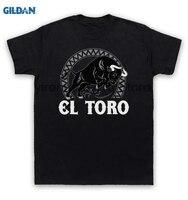 GILDAN 100 Cotton O Neck Printed T Shirt El Toro T Shirt Spanish Bull