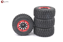 4 Unids/set Short Course Truck Tires & BeadLock Ruedas Llanta Para 1:10 TRAXXAS Slash RC Car 02