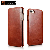 Original Icarer For IPhone 7 Genuine Leather Flip Luxury Case Cover For Apple IPhone Plus 7