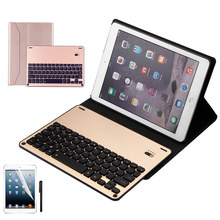 Kemile Environmental PU Case Cover for iPad Pro 10.5 Wireless Bluetooth Luxury Aluminum Alloy Keyboard for iPad Pro 10.5 Tablet