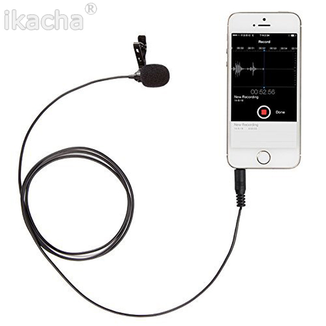 BOYA BY-LM10 Omnidirectional Lavalier Microphone for iPhone 6 5 4S 4,for Sumsang GALAXY 4 LG G3 HTC one Hot