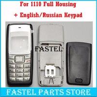 Hkfastel nova capa de alta qualidade para nokia 1110 1112 completa do telefone móvel habitação capa caso inglês/russo/árabe teclado