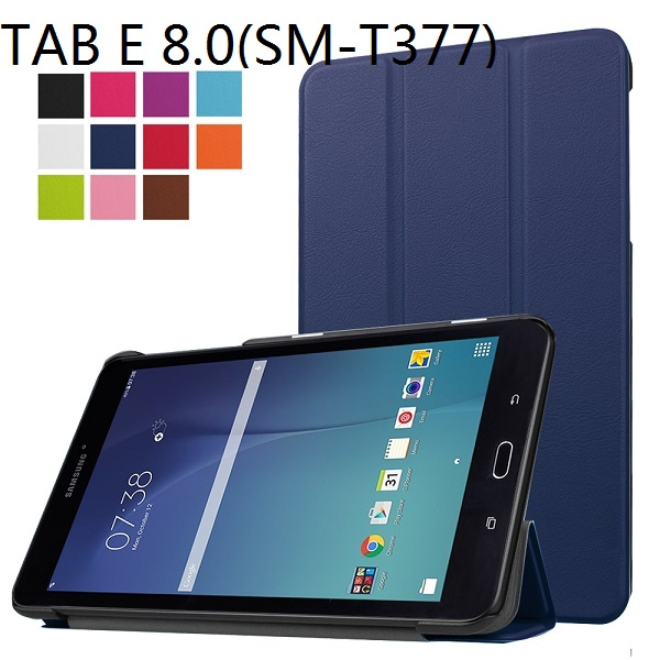 new concept 668ee 94dc8 Smart Ultra Thin Leather Cover Case Stand PU Slim Case For Samsung Galaxy  Tab E 8.0 T377(SM-T377V) 4G LTE Tablet +Free Gift