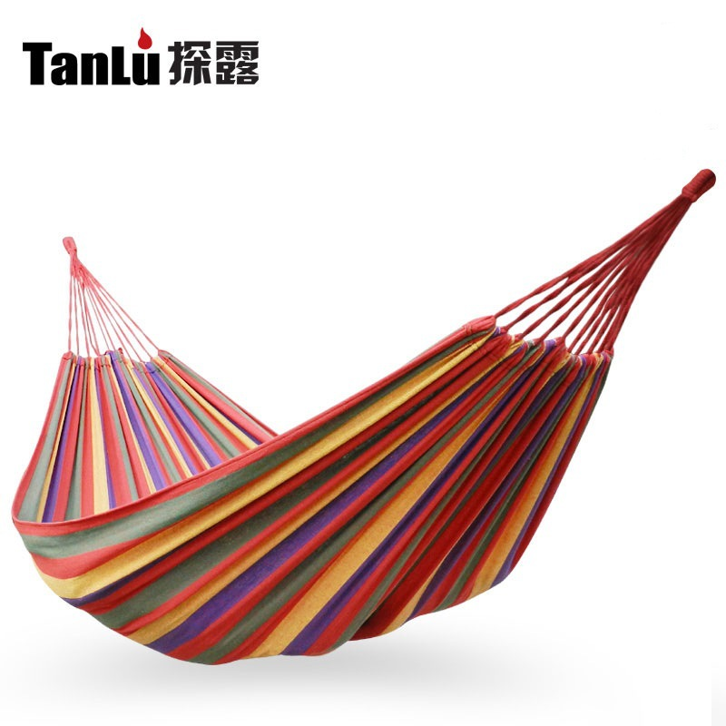 Portable Outdoor Outdoor Garden Traveling Camping Parachute Double Hammock Hang Bed Swing Survival Sleeping 300kg Load-bearing furniture size hanging sleeping bed parachute nylon fabric outdoor camping hammocks double person portable hammock swing bed